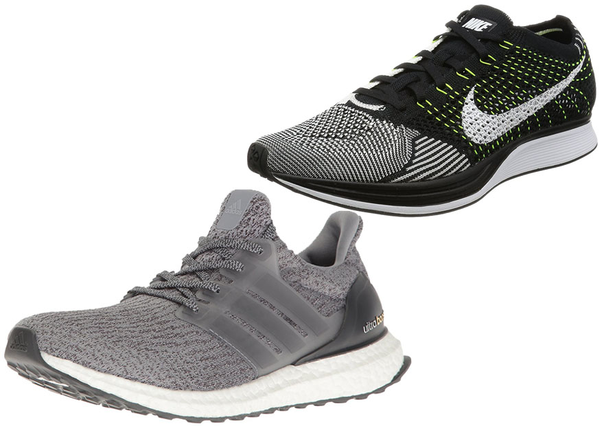adidas ultra boost vs nike flyknit racer. Black Bedroom Furniture Sets. Home Design Ideas